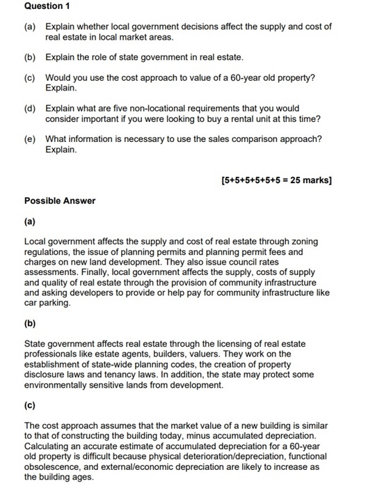 real estate assignment question