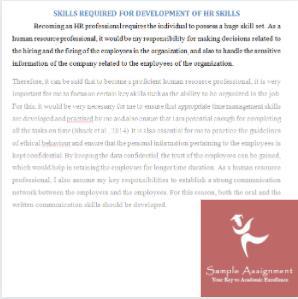 recruitment process assignment sample
