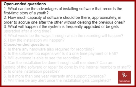 requirements gathering assignment sample