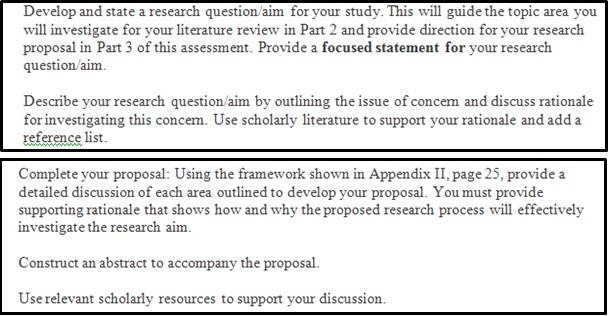 research proposal question canada