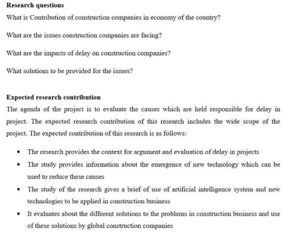 research question on dissertation structure