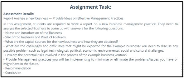 sample business management assignment question help