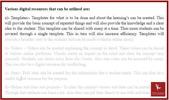 sample digital resource analysis assignment help