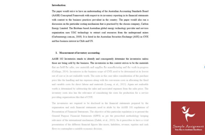 sample solution by accounting thesis writing help experts