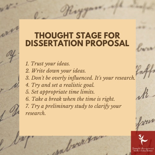 stage for dissertation proposal