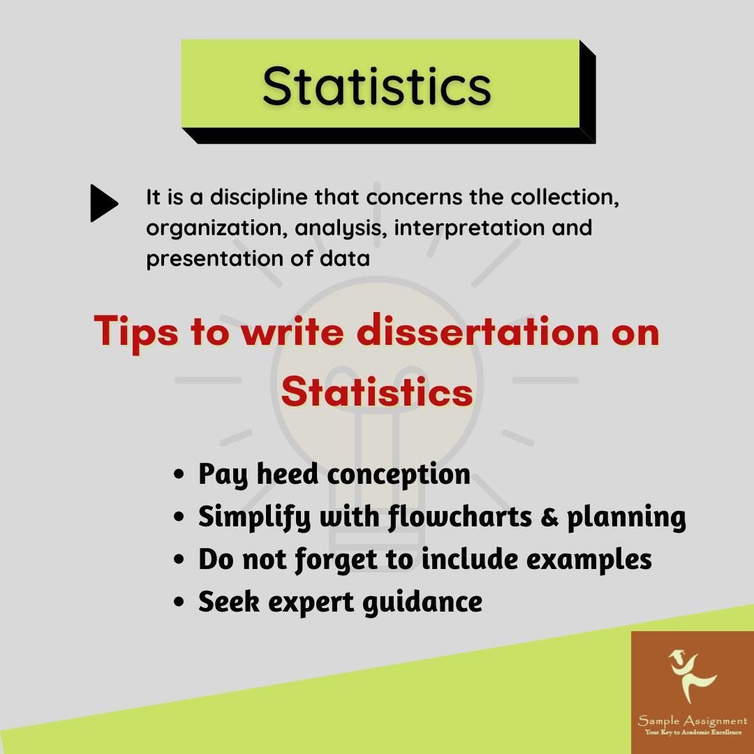 statistics dissertation writing tips