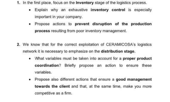 supply chain management sample solution help
