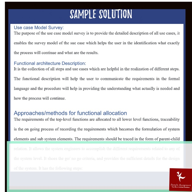 systems engineering assignment sample