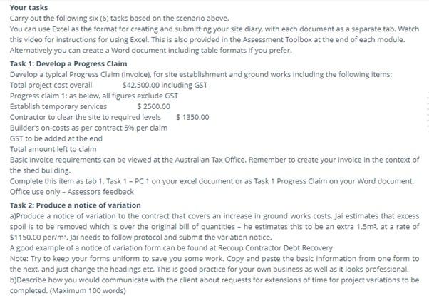 TAFE assignment question sample UK