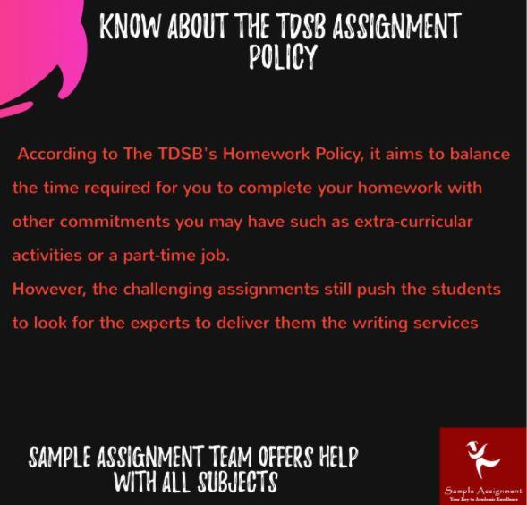 tdsb assignment help service Canada