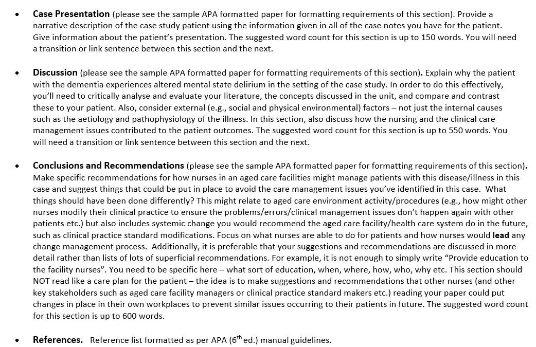 therapeutic nursing assignment solution