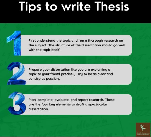 tips to write thesis uk
