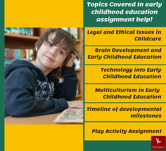 topics covered in early childhood education assignmet help