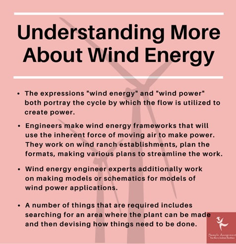 understanding more about wind energy engineering assignment help