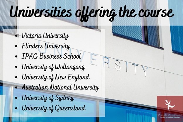 universities offering the course