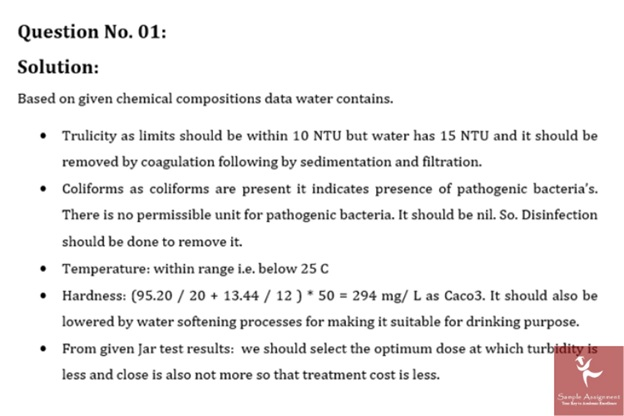 water resources management sample solution online