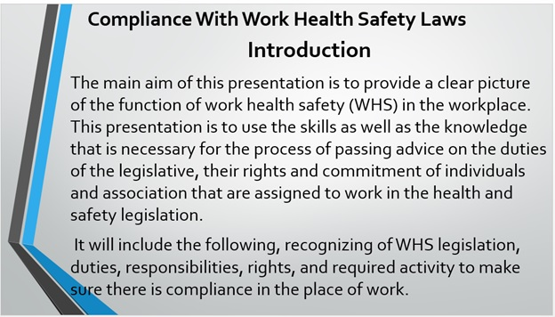 work health safety laws