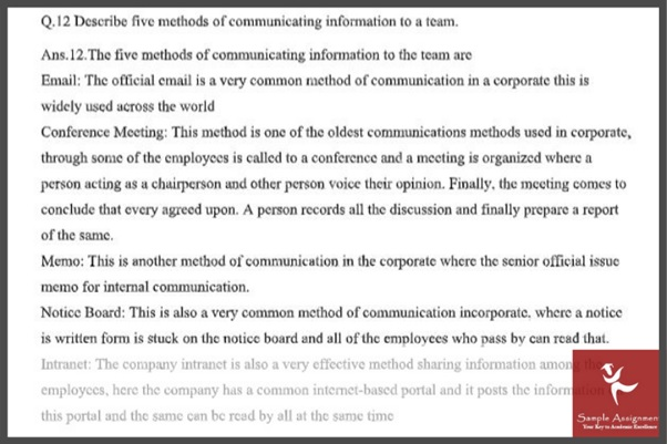 workplace relationship assignment sample online