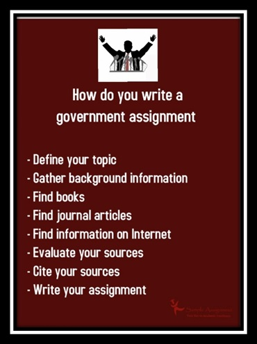 write government assignment uk