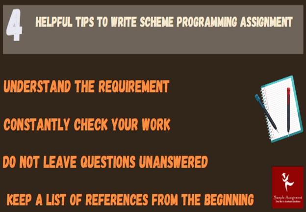 4 helpful tips to write scheme programming assignment