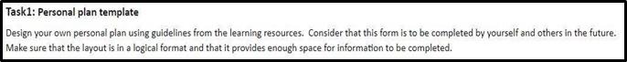 BSBWOR501 workbook assessment task 1 personal plan template