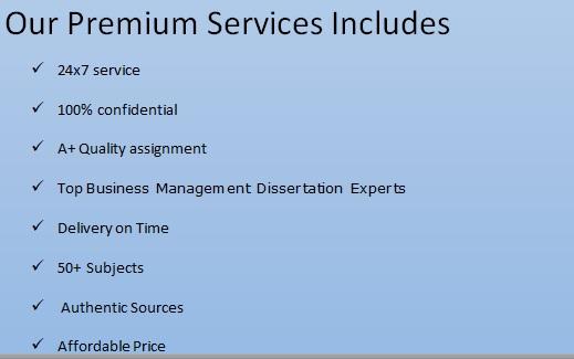Business Management Dissertation service uk
