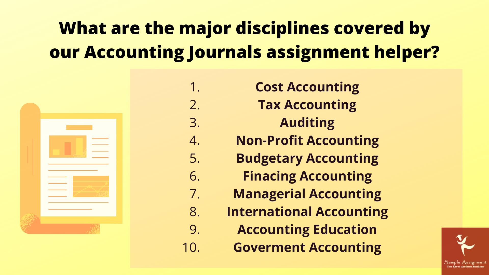 accounting journal academic assistance through online tutoring