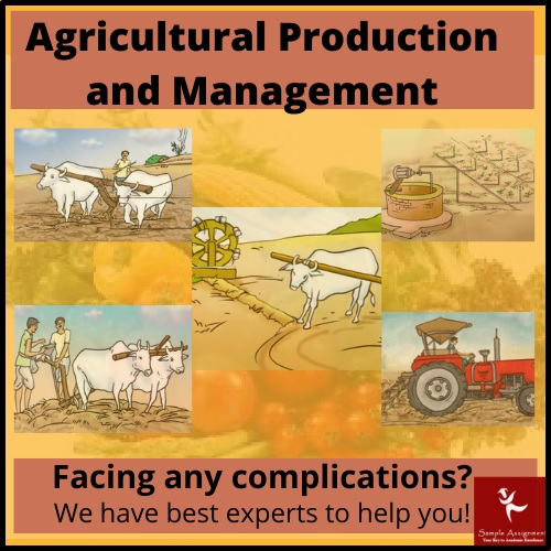 agricultural production and management