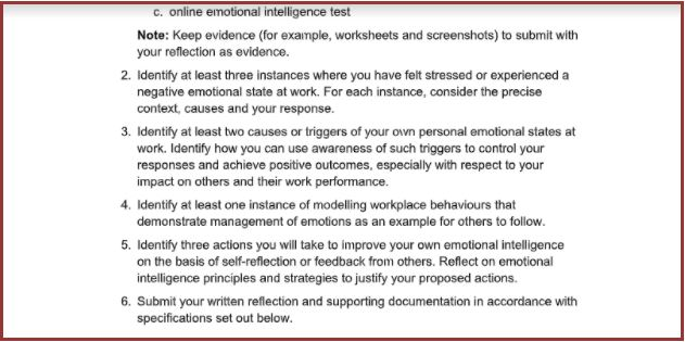assignment sample for develop and use emotional intelligence report writing help