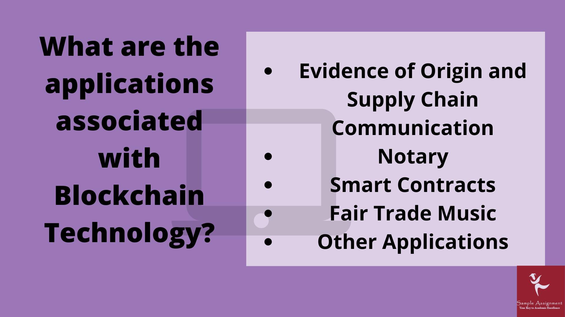 blockchain technology assignment help UK
