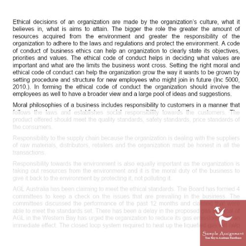 business ethics assignment answer canada