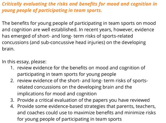 cognitive and brain sciences assignment sample