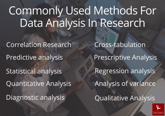 commonly used methods for data analysis in research