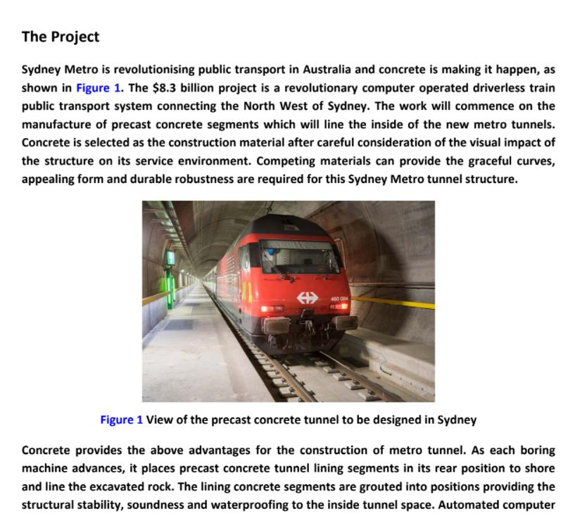 concrete technology assignment sample