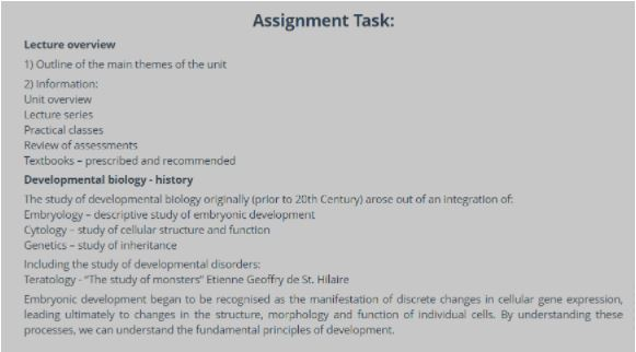 cytology assignment help sample