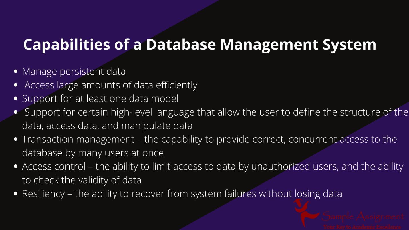 database management system capabilities