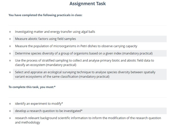 ichthyology assignment help service sample task