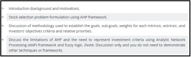 it for financial decisions report writing help sample