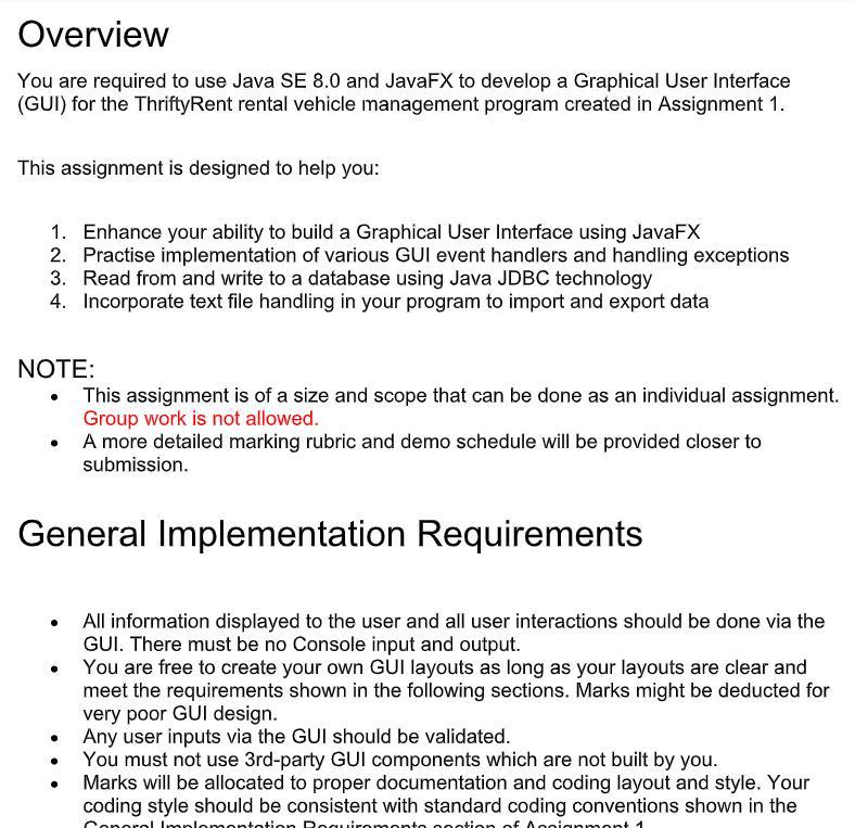 javafx assignment sample