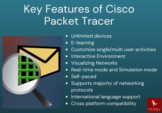 key features of cisco packet tracer