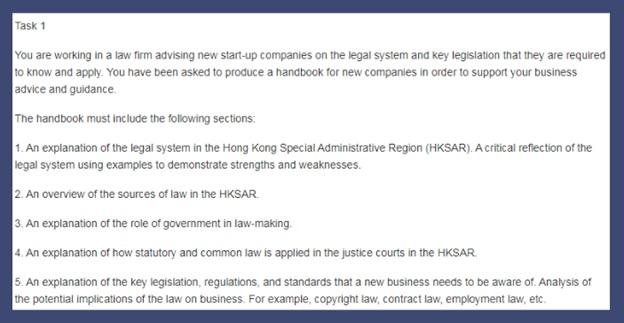 legal studies assignment question