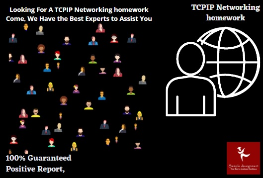 looking for a tcpip networking homework come we have the best experts to assist you