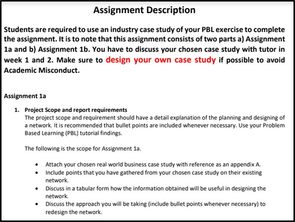 network routing protocols assignment sample description