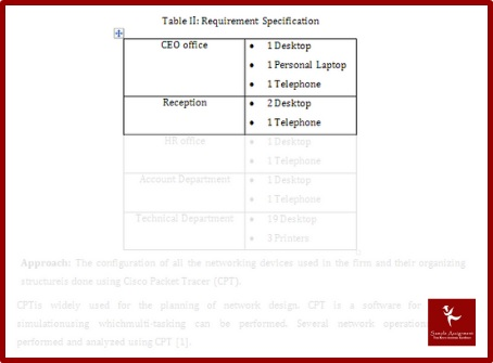 network routing protocols assignment sample table requirement specification