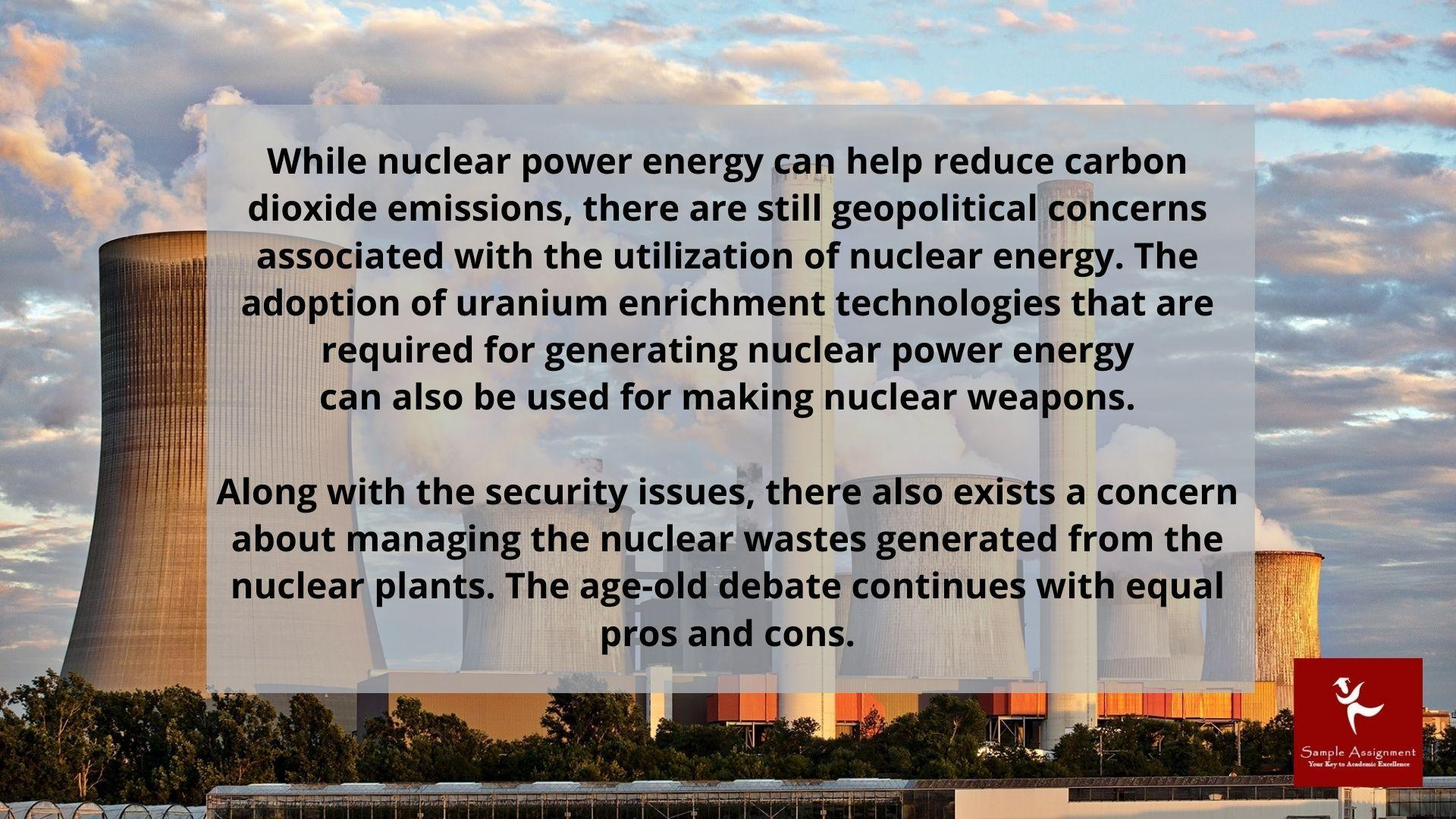 nuclear power production assignment help