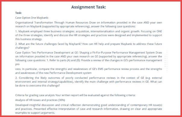 organisational transformation report help