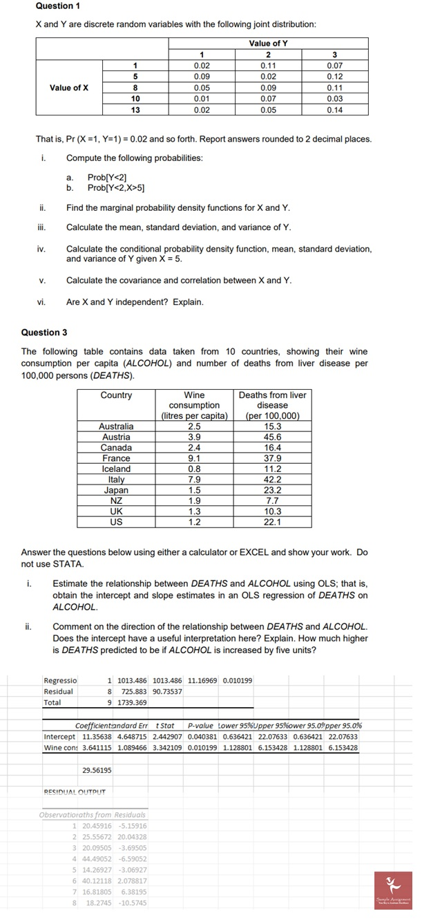 probability assignment sample Canada
