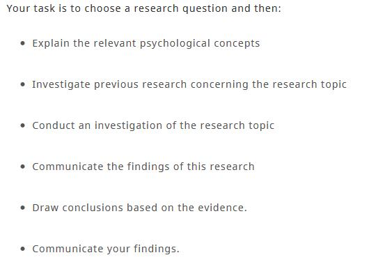 psychology research report writing help