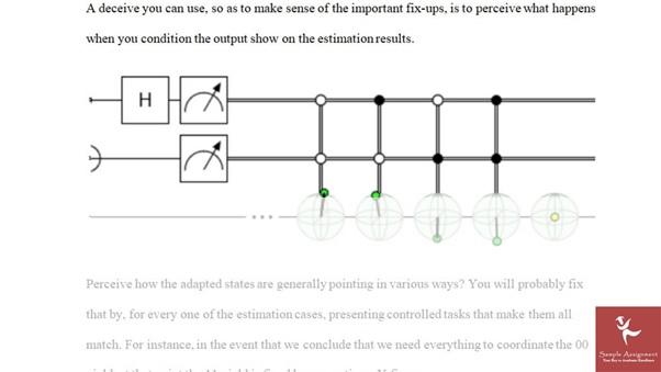 quantum computing sample answer