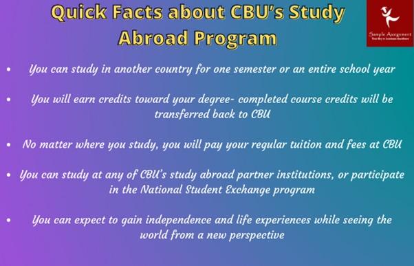 quick facts about cbu s study abroad program